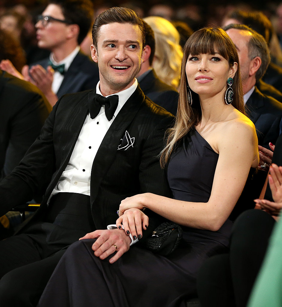 Jessica Biel was by husband Justin Timberlake's side at the 2013 Grammys.