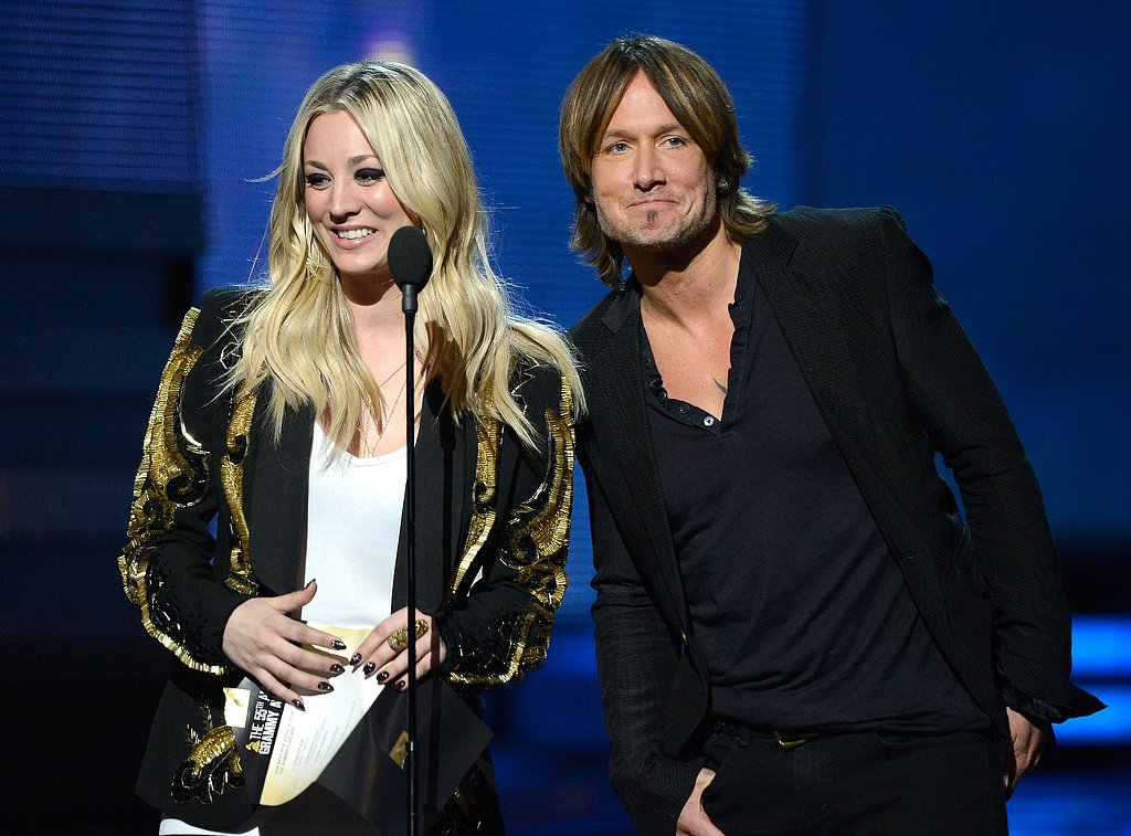 Kaley Cuoco and Keith Urban shared the mic as presenters.