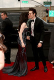 Carly Rae Jepsen shared a kiss with boyfriend Matthew Koma before walking the carpet.