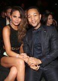 Chrissy Teigen and John Legend cuddled up in the audience.