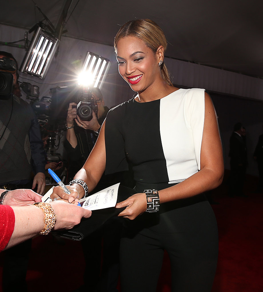 Beyoncé Brings a Black-and-White Jumpsuit to the Grammys