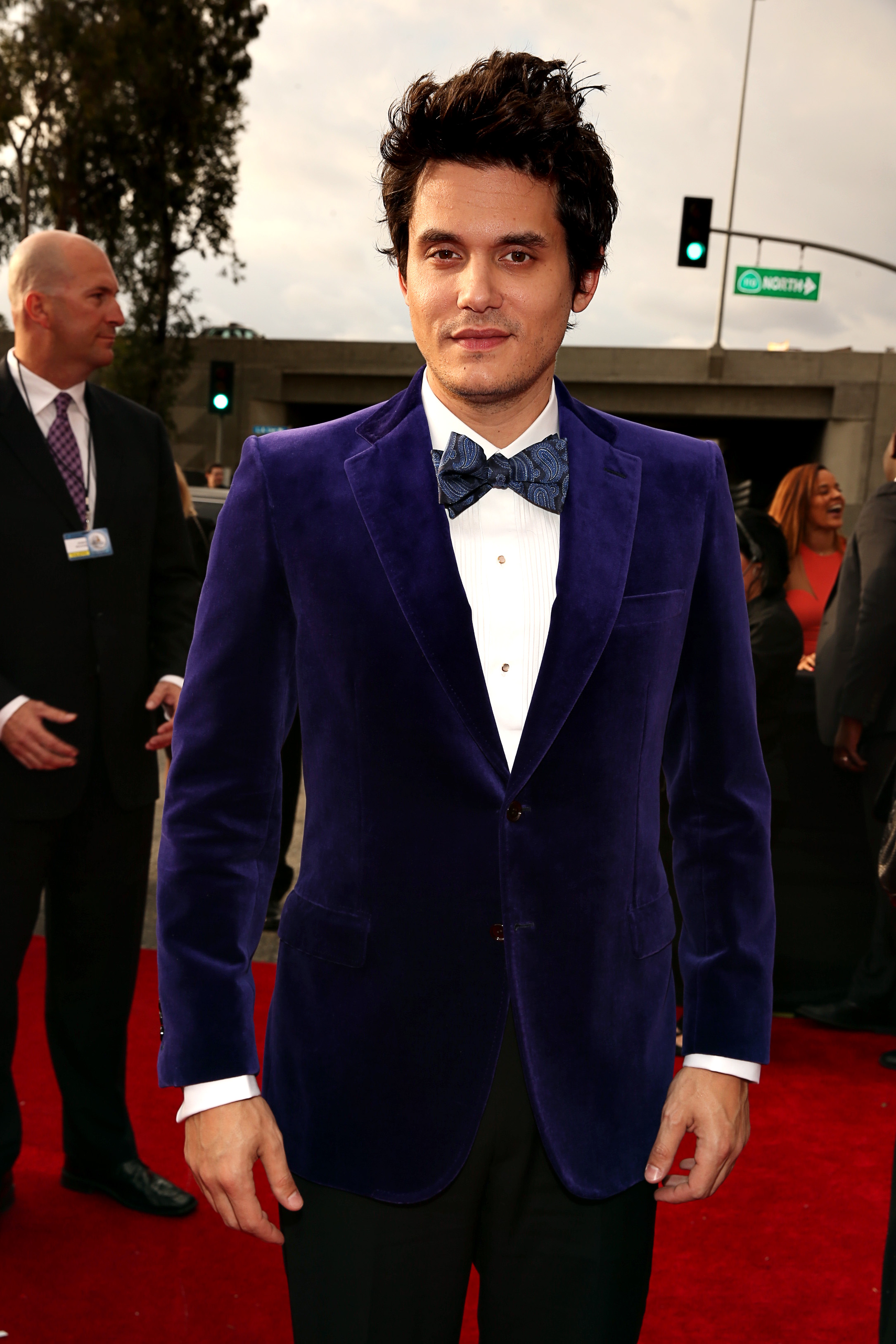 John Mayer stepped out for the Grammy Awards in LA.