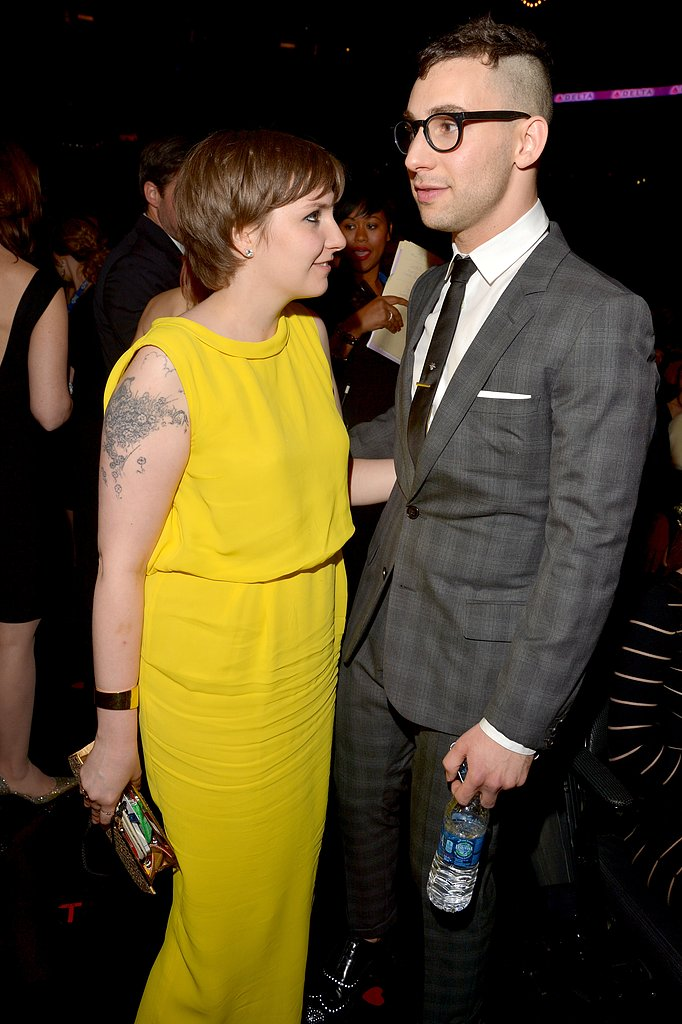 Lena Dunham and her musician boyfriend, Jack Antonoff, enjoyed themselves at the show.