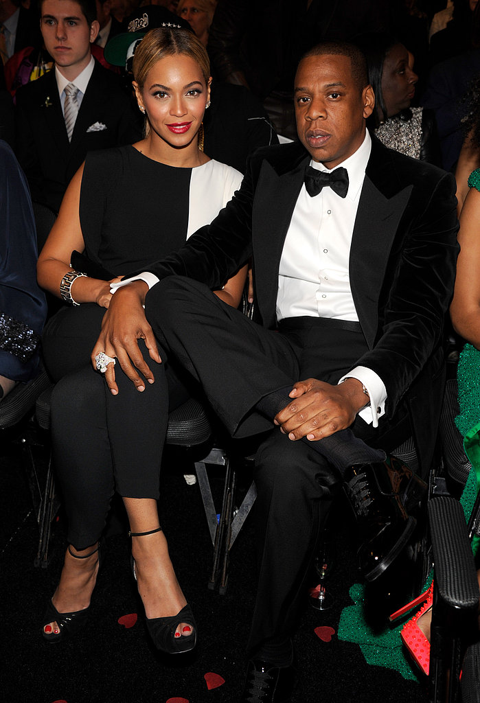 Beyoncé and Jay-Z posed together at the Grammys.