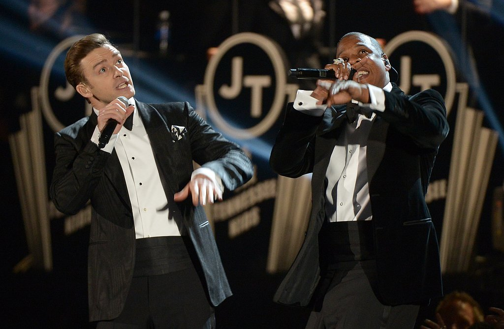 Justin and Jay-Z performed at the 2013 Grammys.