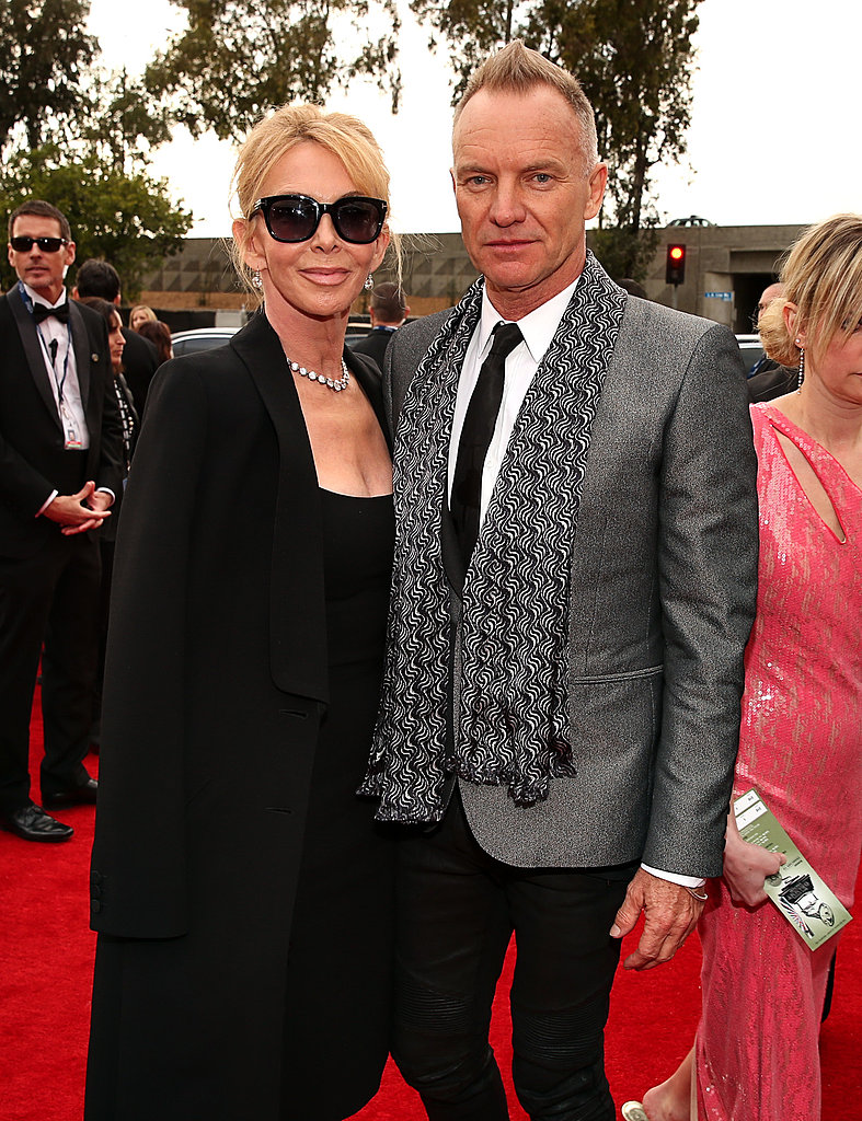 Trudie Styler and Sting kept close.