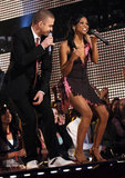 Justin performed with Robyn Troup at the 2007 Grammys.