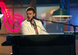 Justin played the piano during his 2004 Grammy performance.