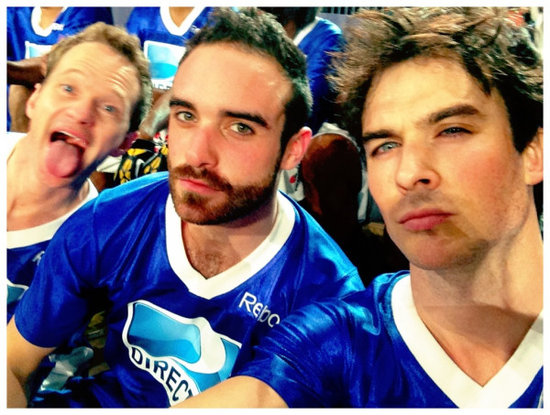 Neil Patrick Harris photo-bombed Ian Somerhalder. Source: Twitter user iansomerhalder