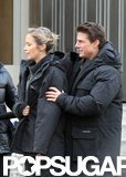 Tom Cruise and Emily Blunt were on set in London.