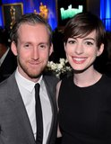 Anne Hathaway attended the Oscars luncheon with her husband, Adam Shulman, on Monday in Beverly Hills.