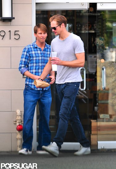 Alexander Skarsgard Grabs a Bite With Pal Jack McBrayer
