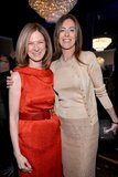 Dawn Hudson and Kathryn Bigelow smiled inside the Oscars luncheon on Monday in Beverly Hills.