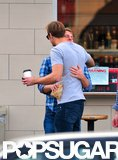 Alexander Skarsgard and Jack McBrayer shared a hug.