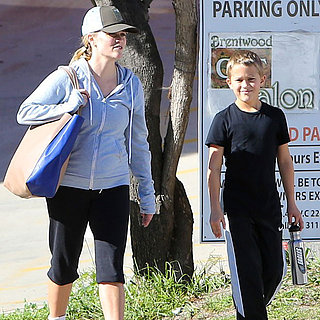 Reese Witherspoon Goes to the Gym With Ava and Deacon in LA
