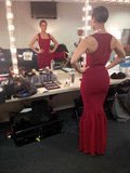 Alicia Keys looked at herself in her dressing room before her pre-Super Bowl performance. Source: Twitter user aliciakeys