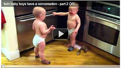 Say Aww...: Twin Babies Have Hilarious Conversation