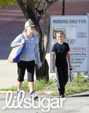Reese Witherspoon and her son Deacon fit in a mother-son workout at the gym in Brentwood.