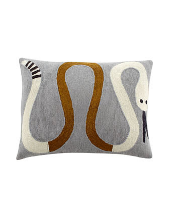 Add a whimsical vibe to any room with these needlepoint snake pillows ($110-$195).