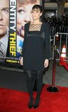 Amanda Peet stepped out in black for the Identity Thief premiere in LA.