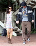 Channing Tatum held hands with Jenna Dewan.