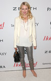 Naomi Watts sported a white blazer.