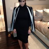 Kim Kardashian wore black and white for a social-media conference. Source: Instagram user kimkardashian