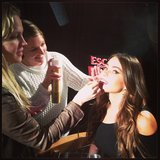 Sofia Vergara got a touch-up during a junket. Source: Instagram user sofiavergara