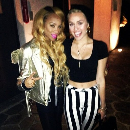 Miley Cyrus hung out with Lil Mama. Source: Twitter user MileyCyrus