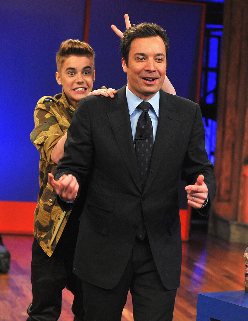 Justin Bieber made a stop on Late Night With Jimmy Fallon in NYC.