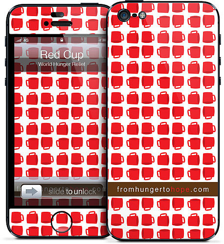 There are several designs you can choose from when you buy a GelaSkin iPhone skin ($15) that support the World Hunger Relief Movement, but we love this one for its fun red-cup design.