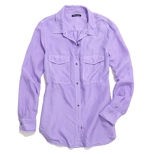 Tuck this Madewell Washed-Silk Boyshirt ($55, originally $115) into a park of dark wide-legged denim.