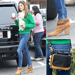 Alessandra Ambrosio Wearing Green Sweater