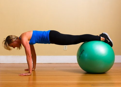 Swiss Ball Plank