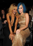 Rihanna and Katy Perry stayed close in the 2012 Grammys audience.