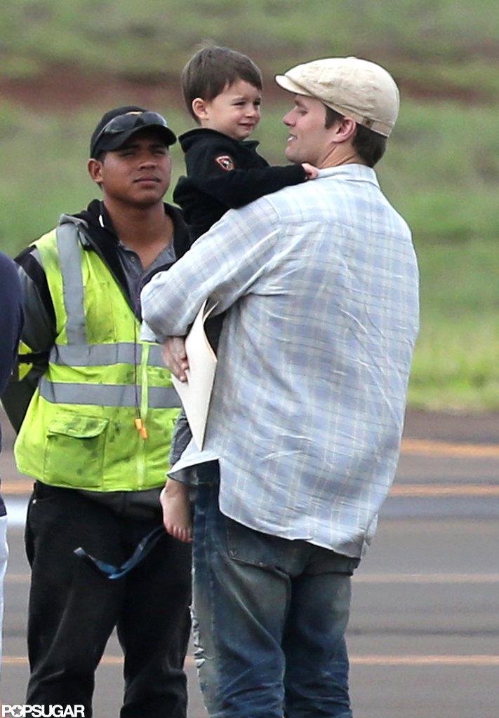 Tom Brady carried Ben on the tarmac.