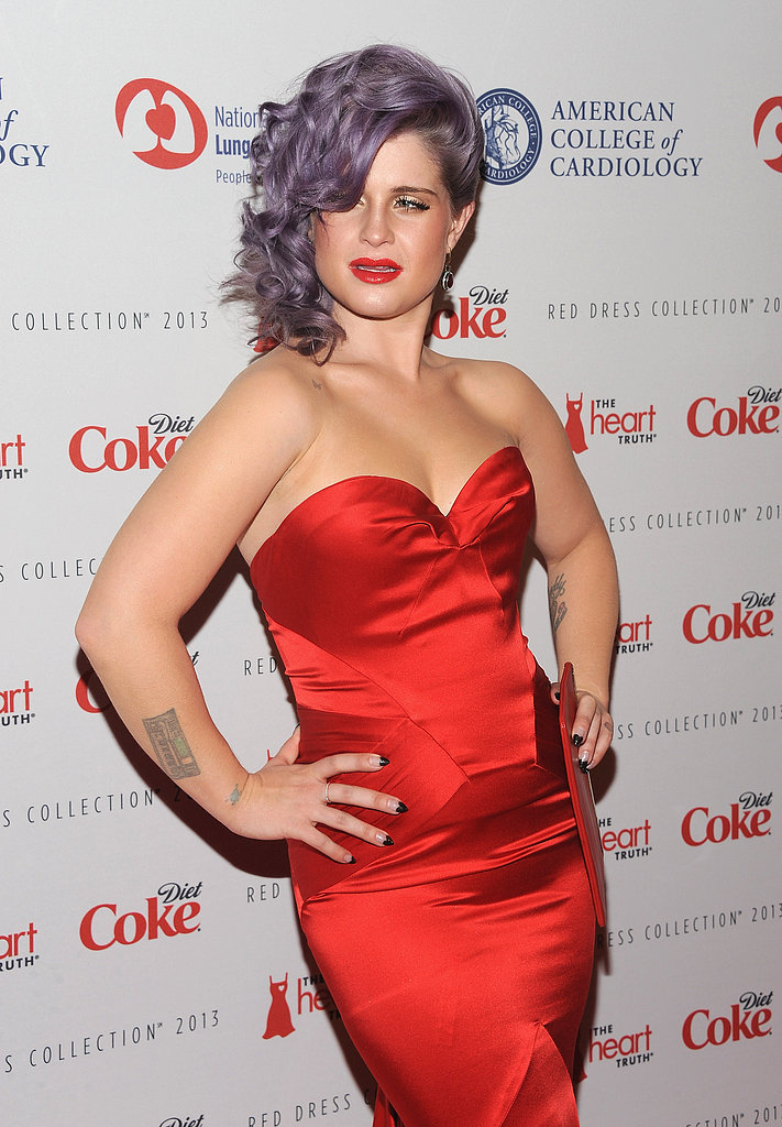 Kelly Osbourne wore a strapless dress to The Heart Truth's Red Dress Collection in NYC.