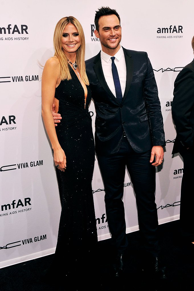 Heidi Klum smiled with Cheyenne Jackson in February at the amfAR New York Gala.