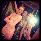 Anne V. took bathroom photos with Giovanna Battaglia and Daria Strokous at the amfAR Gala. Source: Instagram user annev_official