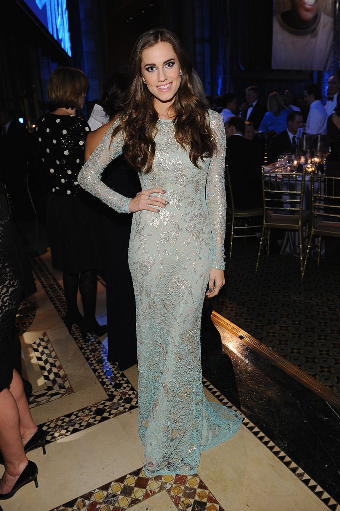 Channeling her inner Winter princess, Allison brought high-octane glamour to the 2012 UNICEF Snowflake Ball in an icy blue Naeem Khan gown, complete with sparkling silver appliqués.
