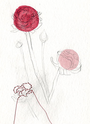 Give your best girlfriend Ranunculus — Pink ($80) by Lisa Solomon instead of actual flowers for a thoughtful gift that lasts.