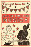 Upbeat and vintage, this block print poster ($35) will make a fun touch to a music room or home office.
