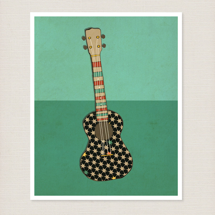 This ukulele print ($60) is part of a series of posters that has musical charm and flair.