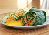 Thai Chickpea Collard Wraps