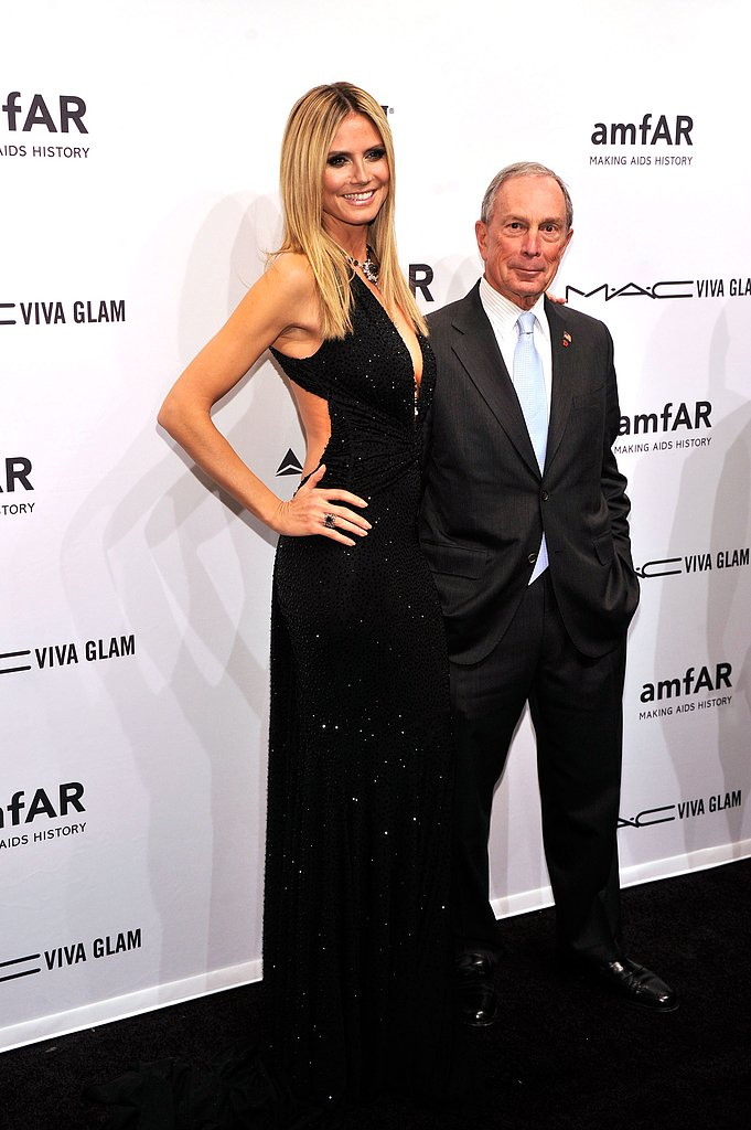 Heidi Klum and Michael Bloomberg