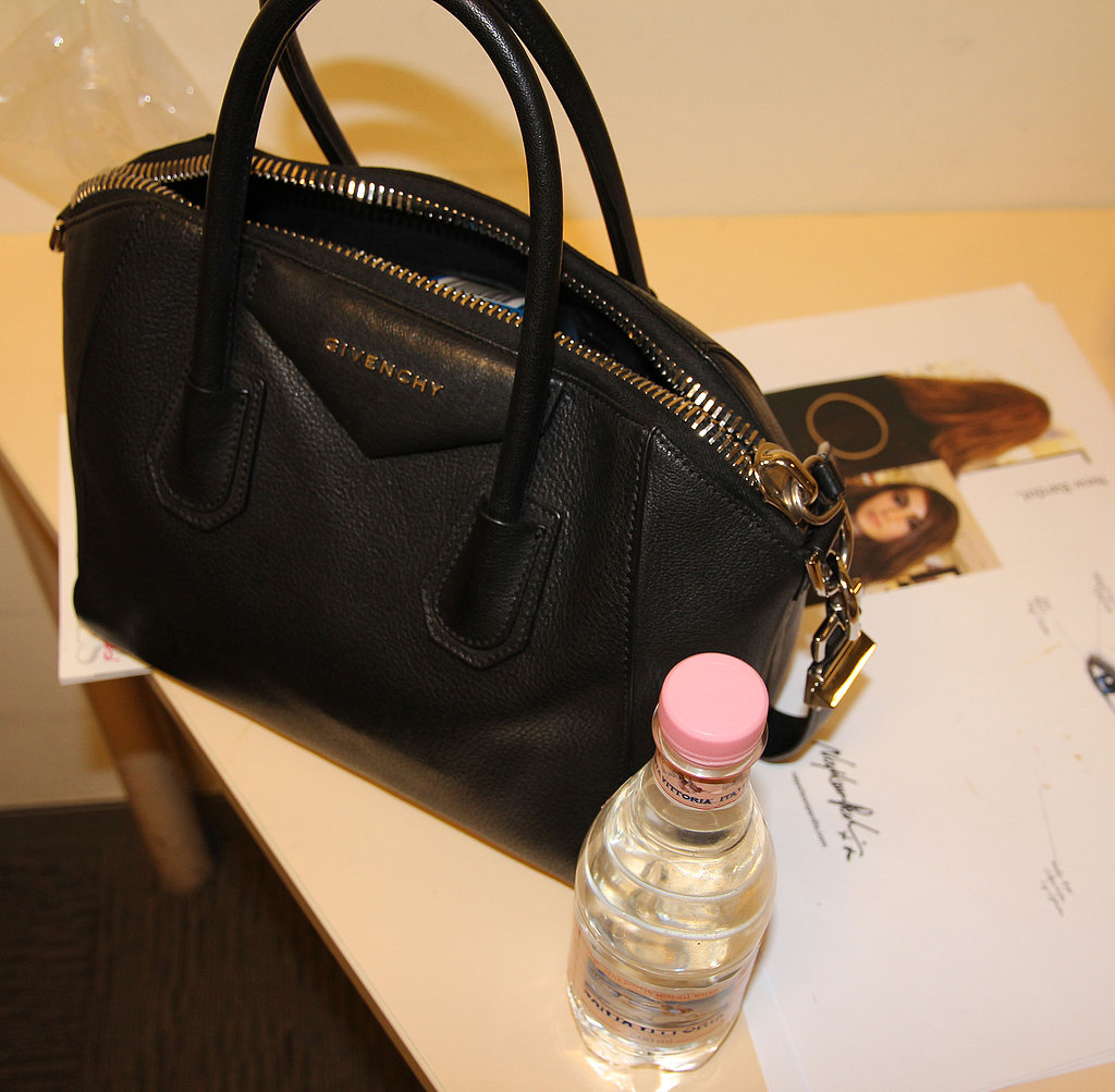 Arm candy alert! This mini Givenchy Antigona bag was sitting pretty.