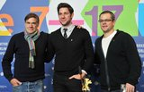 John Krasinski, Matt Damon, and Gus Van Sant attended a press conference together for their film.