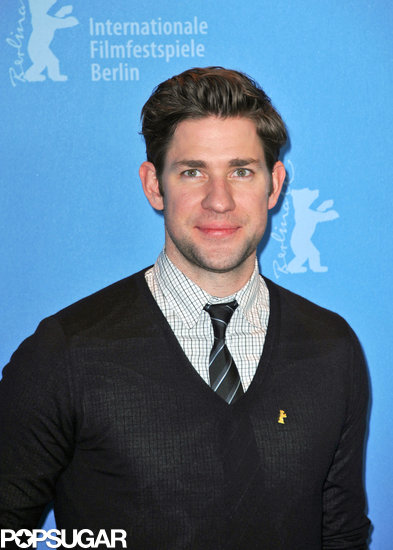 John Krasinski posed at a photocall at the Berlin Film Festival.