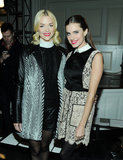 Jaime King and Allison Williams paired up in the front row at Jason Wu on Friday.