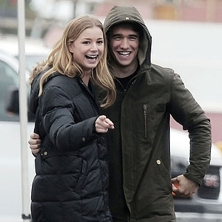 Emily VanCamp and Josh Bowman Hug On Set | Pictures
